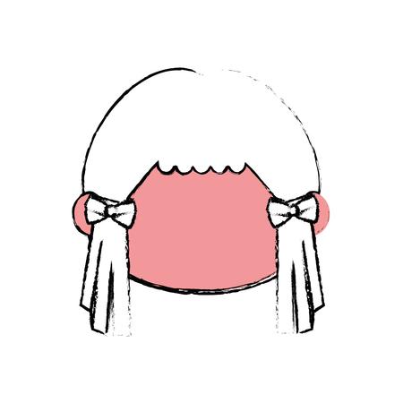 Cute japanese girl cartoon icon vector illustration graphic design