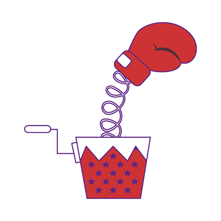 joke box with boxing gloves icon over white background. vector illustration Illustration