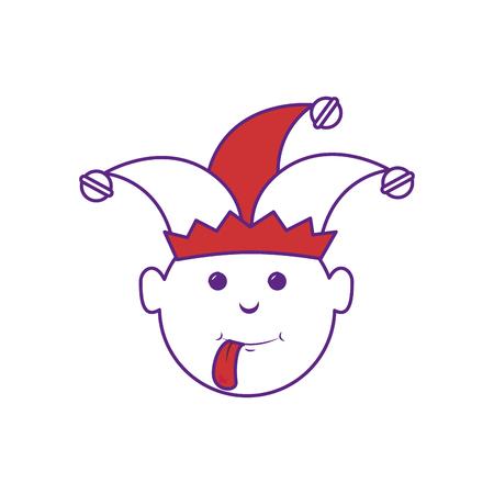 Cartoon harlequin icon over white background. vector illustration Ilustrace