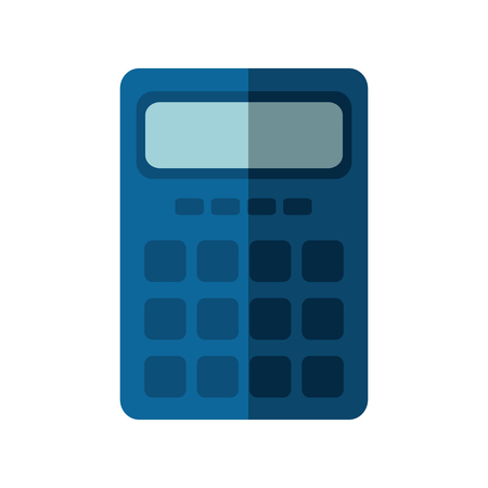 calculator icon over white background. vector illustration