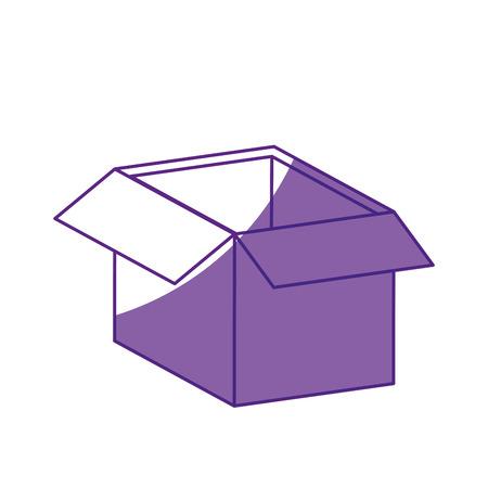 Carton box icon over white background. vector illustration