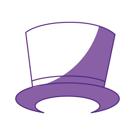 흰색 배경 위에 모자 아이콘입니다. 벡터 일러스트 레이 션