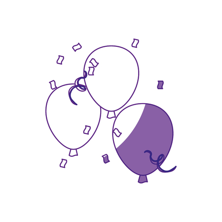 event party: Balloons icon over white background. vector illustration
