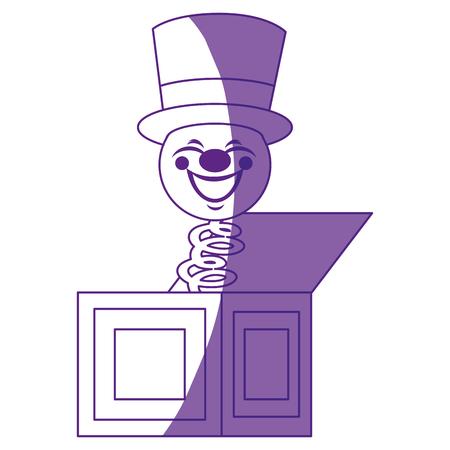 Cuadro de broma con el icono de caja cómica sobre fondo blanco ilustración vectorial Foto de archivo - 79505811