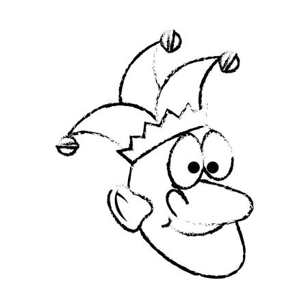 Cartoon harlequin icon over white background. vector illustration Illustration