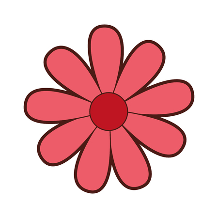 cute flower drawing decorative vector illustration design