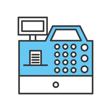 S'inscrire machine isolée icône vector illustration design Banque d'images - 79588331