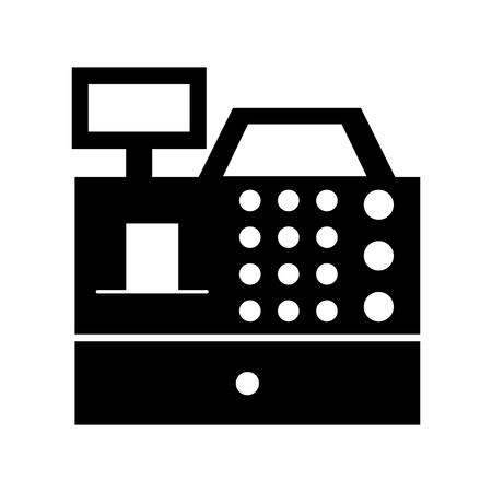 S'inscrire machine isolée icône vector illustration design Banque d'images - 79588351