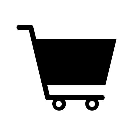 カートショッピング分離アイコンベクトルイラストデザイン