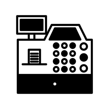 S'inscrire machine isolée icône vector illustration design Banque d'images - 79589634