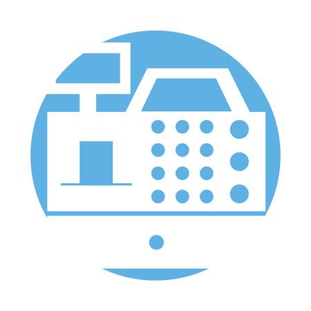S'inscrire machine isolée icône vector illustration design Banque d'images - 79589666