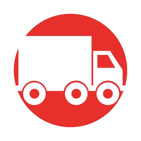 トラック配送サービス アイコン ベクトル イラスト デザイン