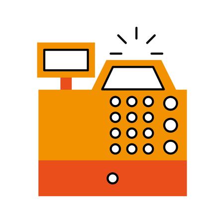S'inscrire machine isolée icône vector illustration design Banque d'images - 79590354