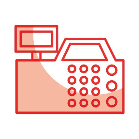 Enregistrer la machine icône isolé illustration vectorielle conception Banque d'images - 79590355