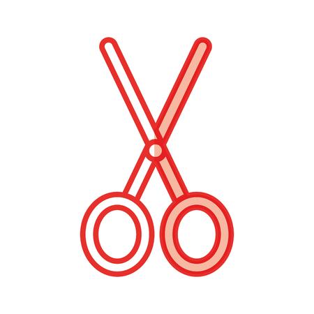 schaar snijden geïsoleerde pictogram vector illustratie ontwerp Stock Illustratie