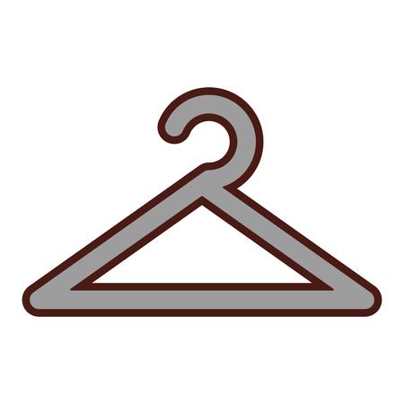 kleding haak geïsoleerd pictogram vector illustratie ontwerp