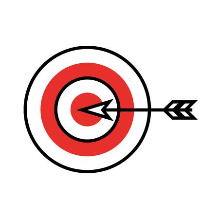 ダーツでターゲット目標分離アイコン ベクトル イラスト デザイン