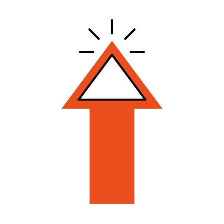 arrow pointer isolated icon vector illustration design Illustration