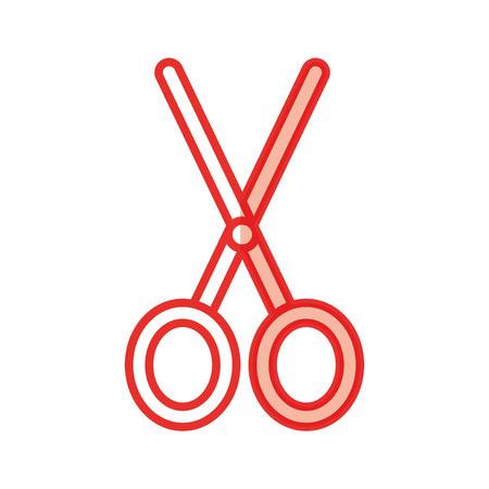 Schaar snijden geïsoleerd pictogram vector illustratie ontwerp