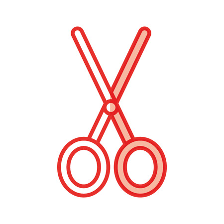 scissors cutting isolated icon vector illustration design Иллюстрация