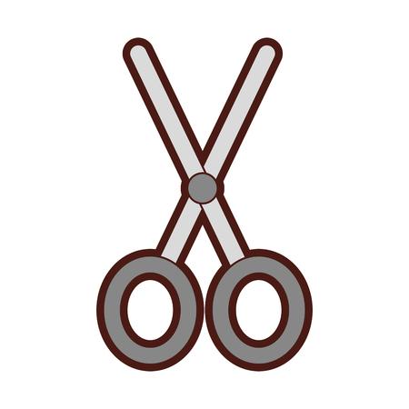 Schaar snijden geïsoleerde pictogram vector illustratie ontwerp Stockfoto - 79590862