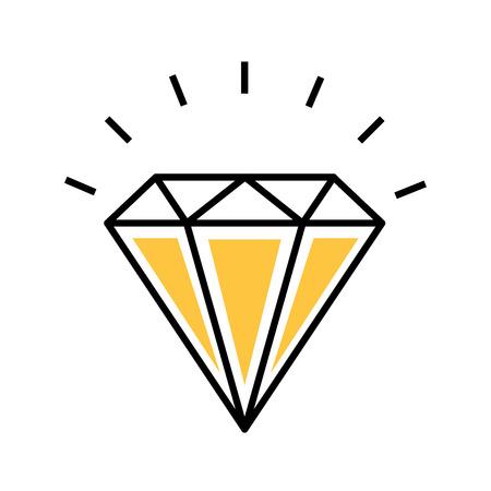 diamond rich isolated icon vector illustration design
