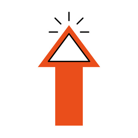 arrow pointer isolated icon vector illustration design Stock Photo