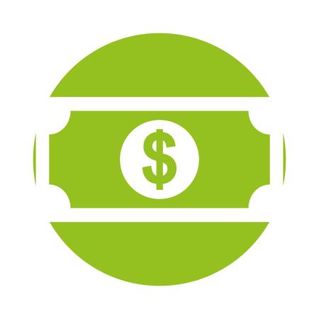 bill money dollar icon vector illustration design Imagens