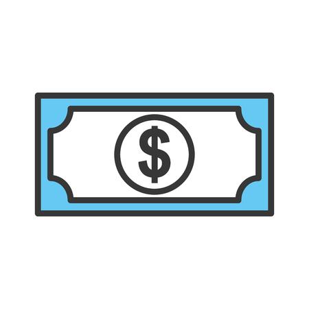 bill money dollar icon vector illustration design Stock Illustration - 79591023