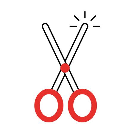 schaar snijden geïsoleerde pictogram vector illustratie ontwerp Stockfoto