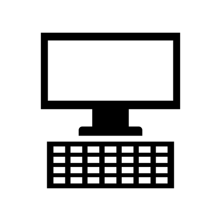 monitor computer desktop isolated icon vector illustration design
