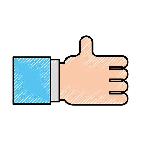 feedback link: hand like isolated icon vector illustration design
