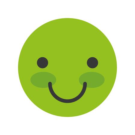 happy face emogy icon vector illustration design Vektorové ilustrace