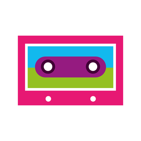 retro cassette isolated icon old mix music