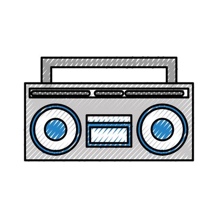 retro radio isolated icon vector illustration design Ilustração