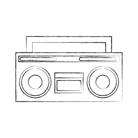 retro radio isolated icon vector illustration design Illustration