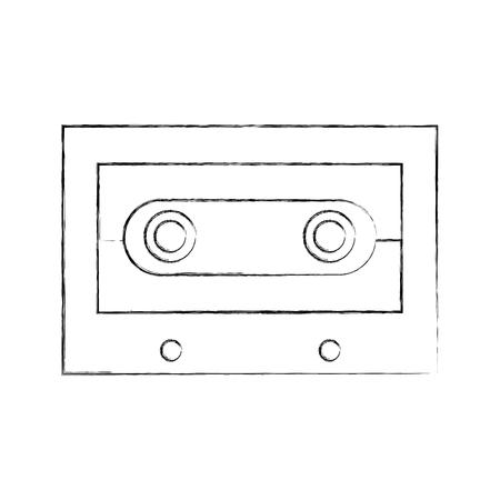 retro cassette isolated icon vector illustration design 向量圖像