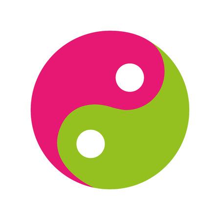 Yin yang symbool geïsoleerd pictogram vector illustratie ontwerp