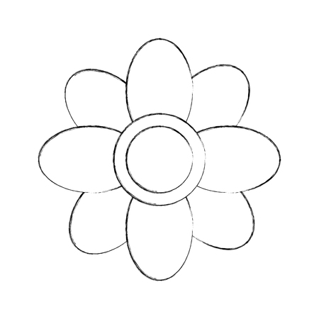 springtime: cute flower isolated icon vector illustration design