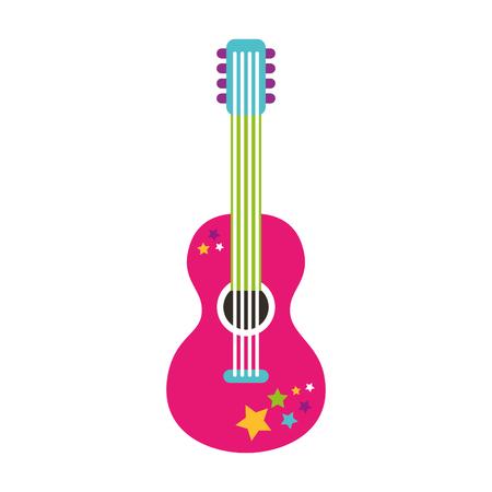 guitar hippie style icon vector illustration design