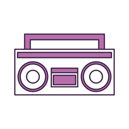 レトロなラジオのアイコン ベクトル イラスト デザインを分離しました。