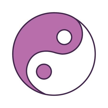 yin y yan: yin yang symbol isolated icon vector illustration design