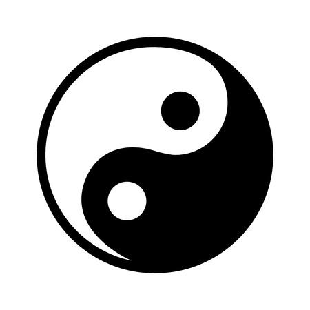 yin yang symbol isolated icon vector illustration design