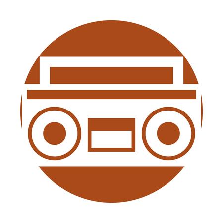 Radio rétro isolé icône vector illustration design Banque d'images - 79613699