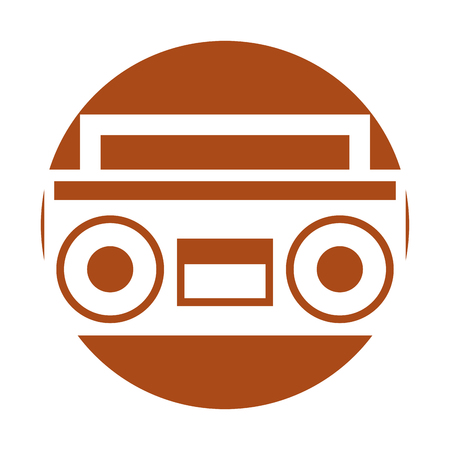 retro radio isolated icon vector illustration design Ilustrace