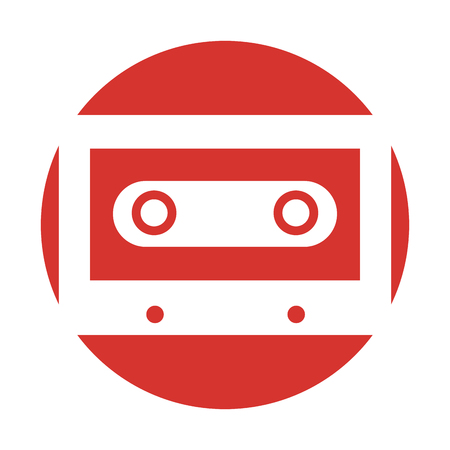 retro cassette isolated icon vector illustration design Ilustrace