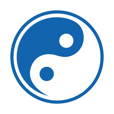 Simbolo yin yang isolato icona illustrazione vettoriale di progettazione Archivio Fotografico - 79613709