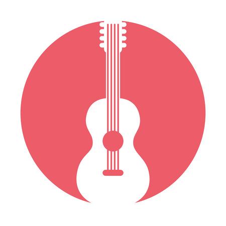 guitar hippie style icon vector illustration design Reklamní fotografie - 79613035
