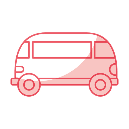 van style hippie icon vector illustration design 向量圖像