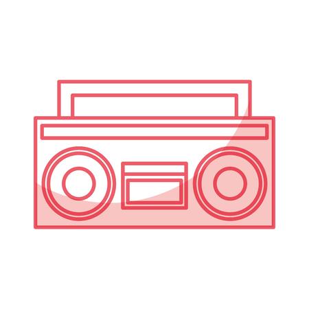 Radio rétro isolé icône vector illustration design Banque d'images - 79613077